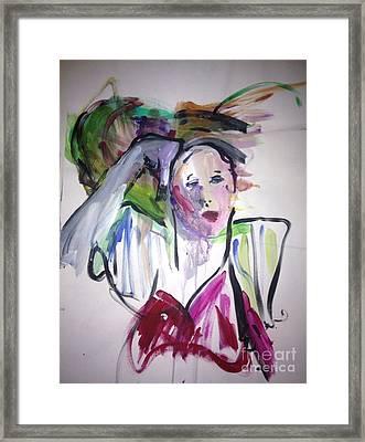La Parisian Framed Print by Elaine Schloss