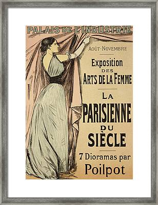 La Parisienne Du Siecle Framed Print by Jean Louis Forain