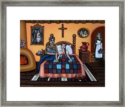 La Partera Or The Midwife Framed Print