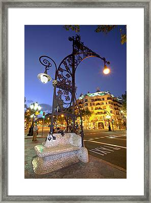 La Pedrera From Gaudi Framed Print by Javier Fores