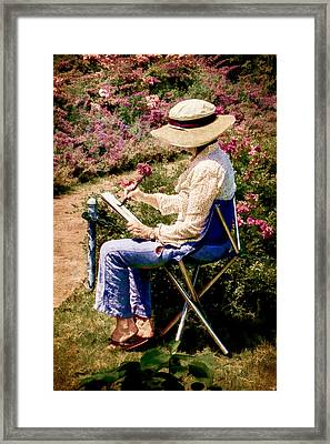 Framed Print featuring the photograph La Peintre by Chris Lord