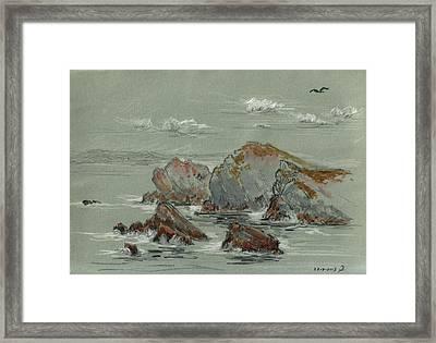 La Penyona Seascape Framed Print