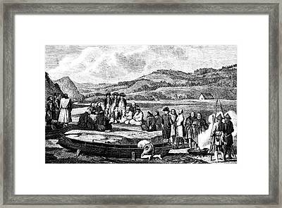 La Perouse In The Far East Framed Print by Collection Abecasis
