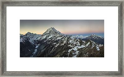La Perouse Mount Cook And Malte Brun Framed Print by Colin Monteath