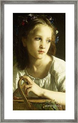 La Petite Ophelie Framed Print by William Adolphe Bouguereau