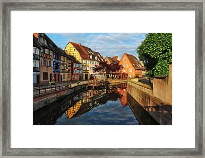 La Petite Venice Reflections In Colmar France Framed Print by Greg Matchick