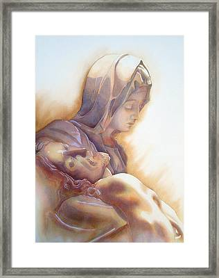 La Pieta By Michelangelo Framed Print