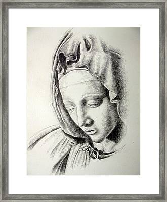La Pieta Madonna Framed Print by Heather Calderon