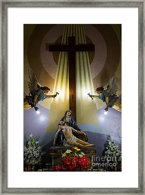 La Pieta   The Crucifixion Of Christ Framed Print by Al Bourassa