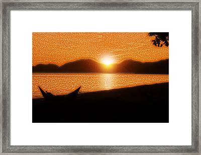 La Pirogue Framed Print