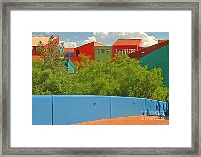 La Placita Village Framed Print by Ellen Thane