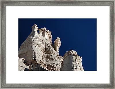 La Plaza Blanca - Figure Of Mary Framed Print by Julie VanDore