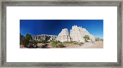 La Plaza Blanca - Panorama Framed Print by Julie VanDore