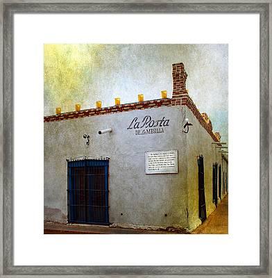 La Posta De La Mesilla Framed Print by Barbara Chichester