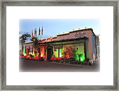 Framed Print featuring the photograph La Posta De Mesilla New Mexico by Barbara Chichester