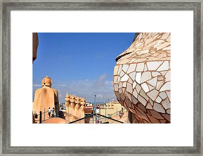 La Predrera Gaudi House Barcelona Framed Print by Diane Lent