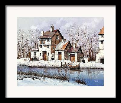 White River Paintings Framed Prints
