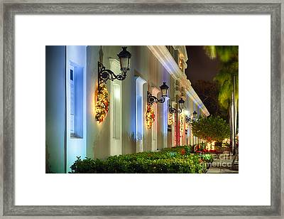 Old San Juan Holiday Impression I Framed Print