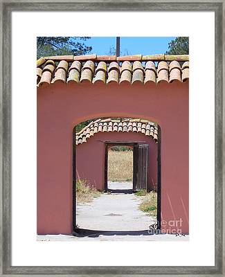 La Purisima Doorways Framed Print