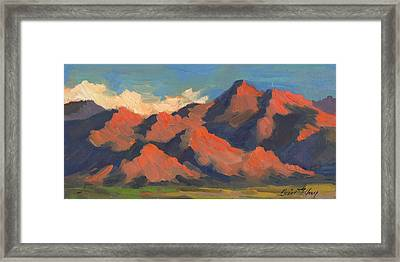 La Quinta Mountains Morning Framed Print by Diane McClary