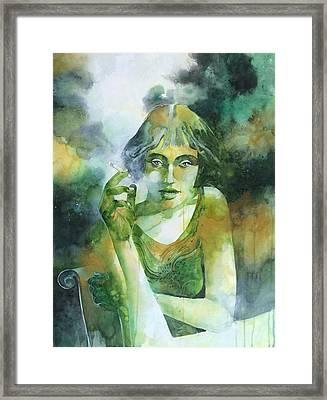 La Ragazza Che Fumava Gauloises Framed Print by Alessandro Andreuccetti