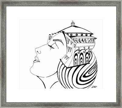 La Reina Catalina Framed Print by Carlos Martinez
