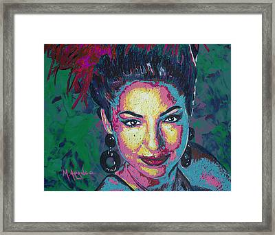 La Reina De Miami Framed Print by Maria Arango