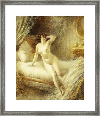 La Reveille Framed Print by Albert Guillaume