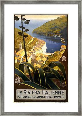 La Riviera Italienne Framed Print by Georgia Fowler