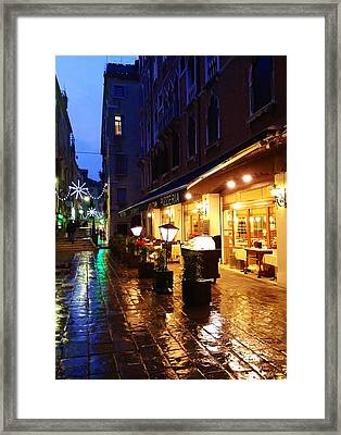 La Roberto's Trattoria Fine Dining Framed Print by Jan Moore