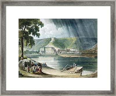 La Roche, From Views On The Seine Framed Print by John Gendall
