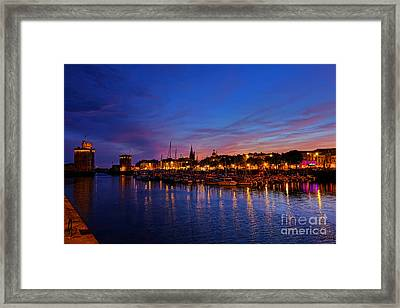 La Rochelle Night Framed Print by Olivier Le Queinec