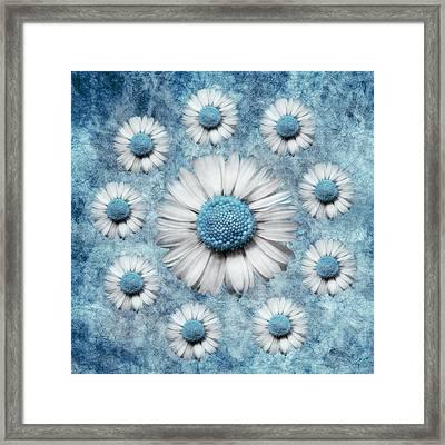 La Ronde Des Marguerites - Blue V02 Framed Print
