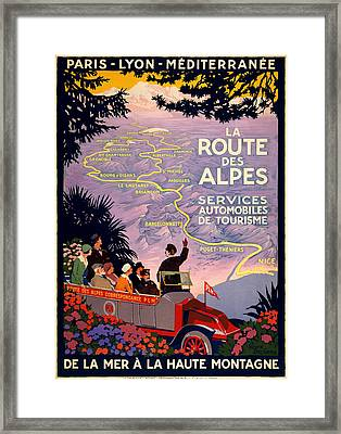 La Route Des Alpes Framed Print