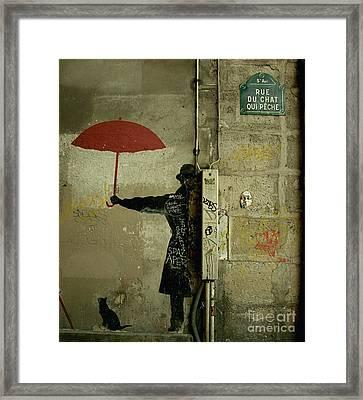 La Rue Du Chat Qui Peche Framed Print by Louise Fahy