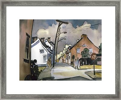 la rue St-Ignace 15x22 Framed Print by Jean-Marc Berube