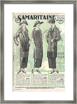 La Samaritaine 1924 1920s France Mail Framed Print
