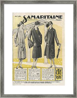 La Samaritaine 1926 1920s France Mail Framed Print