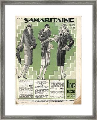 La Samaritaine 1928 1920s France Mail Framed Print