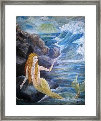 La Sarina Del Mar Framed Print by Noor Moghrabi