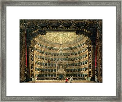La Scala, Milan, During A Performance Framed Print by Italian School