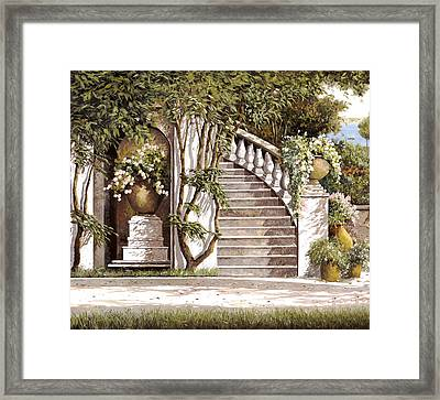 La Scalinata Framed Print by Guido Borelli