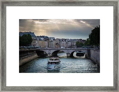 La Seine Framed Print by Inge Johnsson