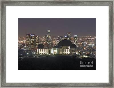 L.a. Skyline Framed Print