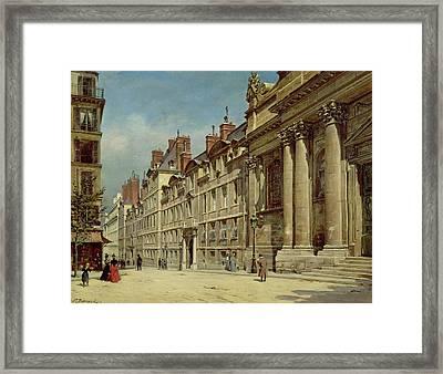 La Sorbonne Framed Print by Paul Joseph Victor Dargaud