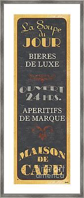 La Soupe Du Jour Framed Print