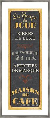 La Soupe Du Jour Framed Print by Debbie DeWitt