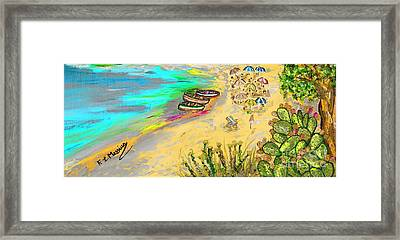 La Spiaggia Framed Print by Loredana Messina
