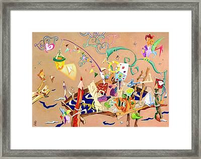 La Stanza Dei Giocattoli - Children Illustration Wallpaper Framed Print