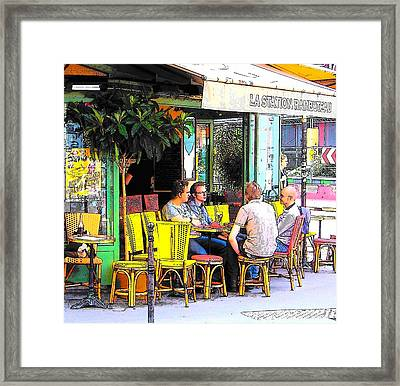 La Station Rambuteau Wine Drinkers Framed Print